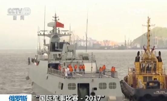 """国际军事比赛:黄石舰获""""海洋之杯""""第三阶段冠军"""