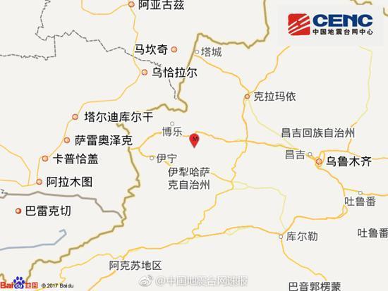 新疆精河地震周边5公里无村庄 暂无人员伤亡报告