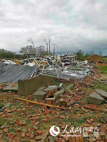 内蒙古克旗、翁旗交界处遭受龙卷风袭击 已致5人死亡