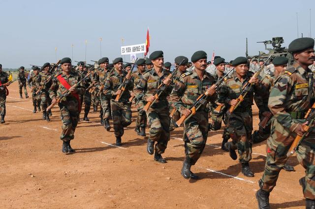 印大规模军改 57000名士兵将被重新部署到战斗岗