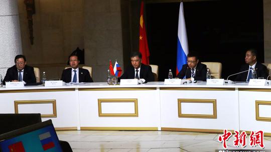 汪洋与俄罗斯副总理罗戈津共同主持中俄总理定期会晤委员会双方主席会晤