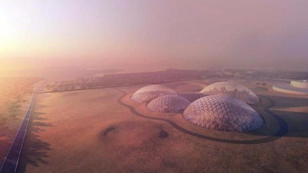 """迪拜公布由丹麦建筑师设计的""""火星科学城""""方案"""