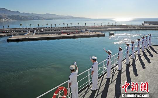 中国海军和平方舟医院船离开西班牙前往塞拉利昂