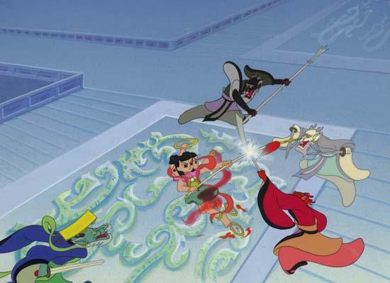 《哪吒闹海》《雪孩子》《鹿铃》《天书奇谭》《三毛流浪记》等动画片