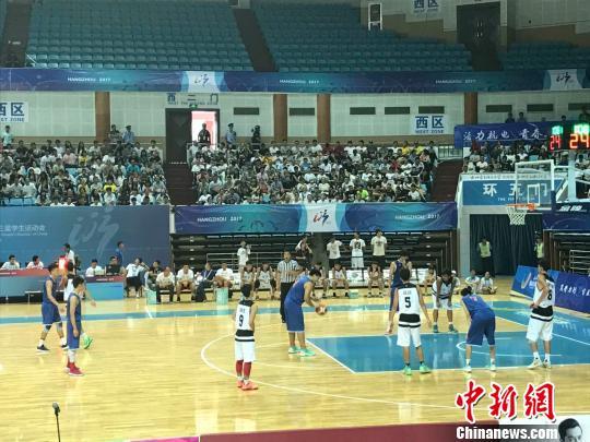 广东代表队折桂全国学生运动会中学生篮球赛男子组