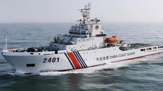中国海警舰船编队10月5日在我钓鱼岛领海巡航