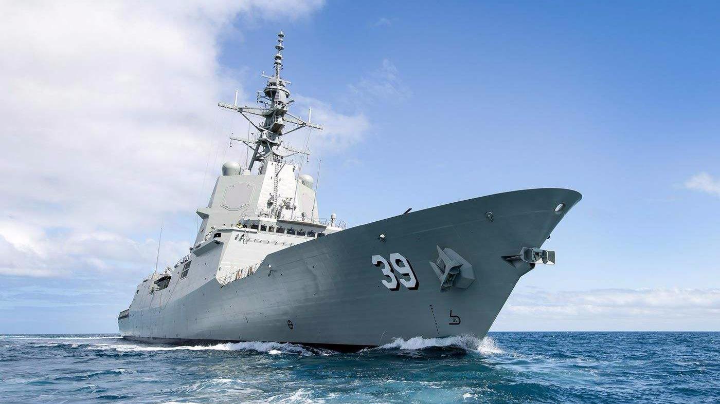 澳首艘宙斯盾驱逐舰服役