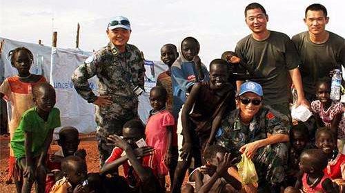 中国赴南苏丹维和工兵组织应急防卫演练
