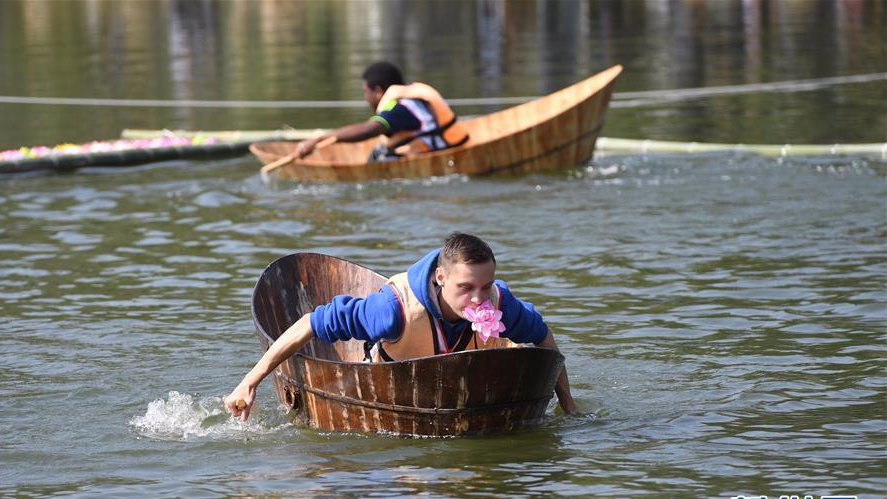 2017年全国农耕健身大赛在江西宜春举行,中外选手共享农耕健身乐趣