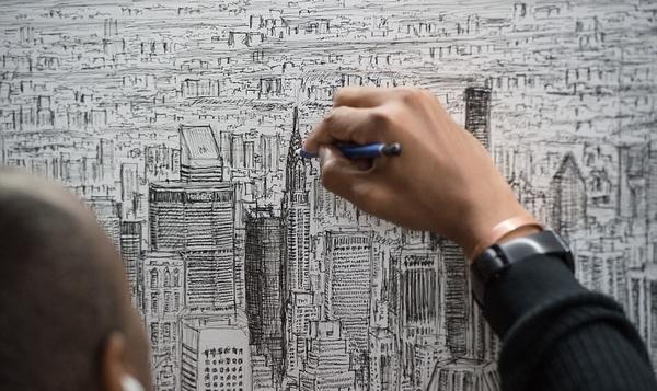 英天才自闭画家仅凭45分钟记忆画出纽约城