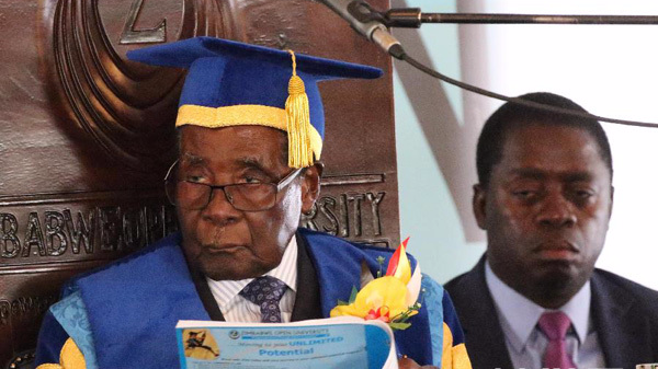津巴布韦总统穆加贝辞职
