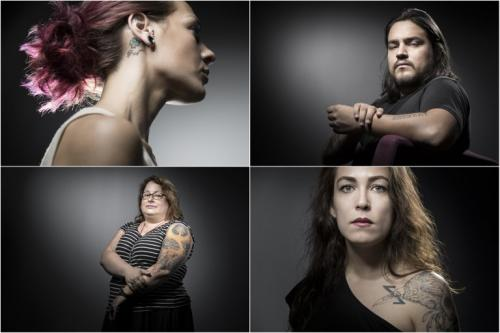 巴黎恐袭的部分幸存者,选择用纹身纪念逝者,抚平伤痕(图片来源:法新社)