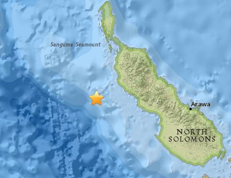 巴新东部海域发生5.4级地震 震源深度57.8公里