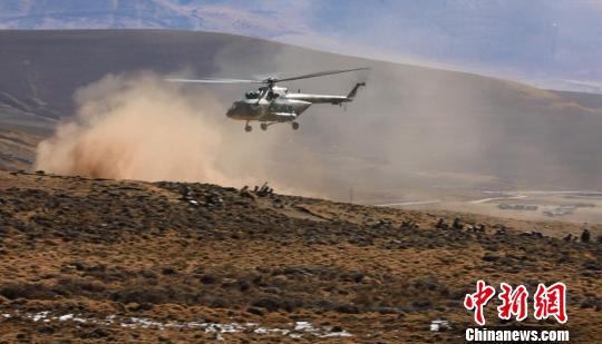 陆航护送伤员 军演视频截图