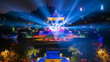 绚烂灯海 中山纪念堂迎世界来宾