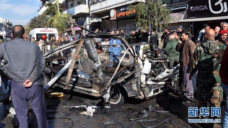 叙利亚中部城市发生公共汽车爆炸 至少8死18伤