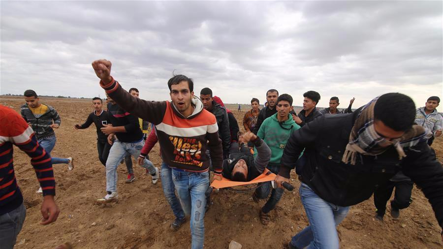 巴勒斯坦民众抗议美国承认耶路撒冷为以色列首都