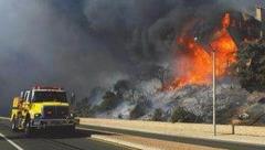 """美国加州林火告急 首发最高级别""""紫色""""警告"""