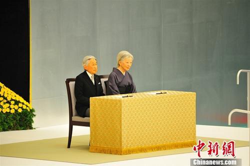 资料图:日本明仁天皇及皇后。<a target='_blank' href='http://www.chinanews.com/'>中新社</a>记者吕少威摄