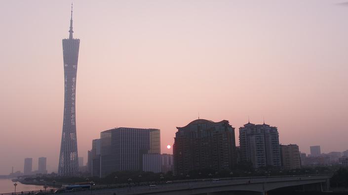 2018年第一天 广州迎来清晨第一缕曙光