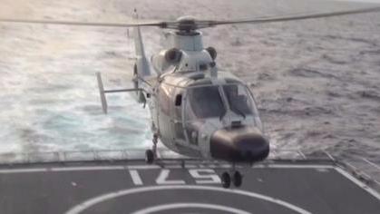 海军直-9直升机训练首次曝光 或将为直-20储备飞行员
