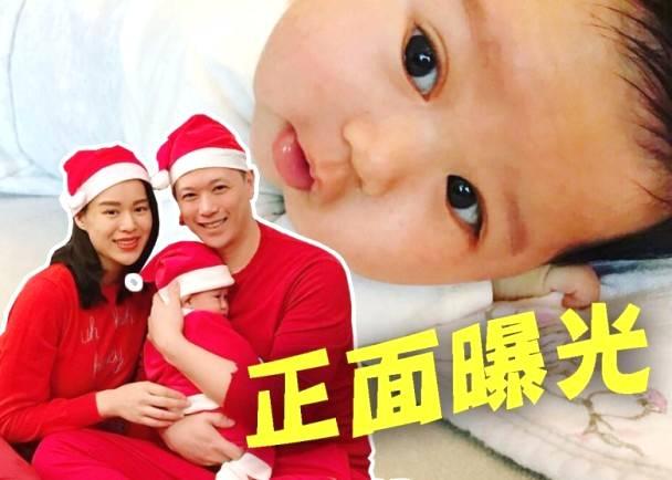 胡杏儿丈夫晒儿子正面照 还透露了孩子的中文名