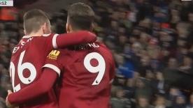 英超第二十五轮:菲尔米诺萨拉赫建功 利物浦3-0完胜哈德斯菲尔德
