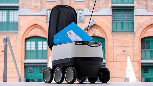 家中无人接收包裹怎么办?机器人快递员来帮您