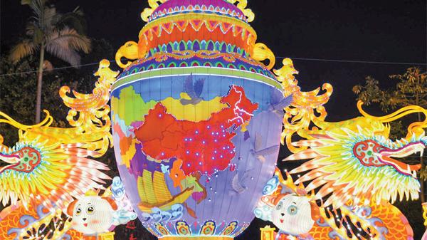 越秀花灯会开锣 花香灯影中过一个广味春节