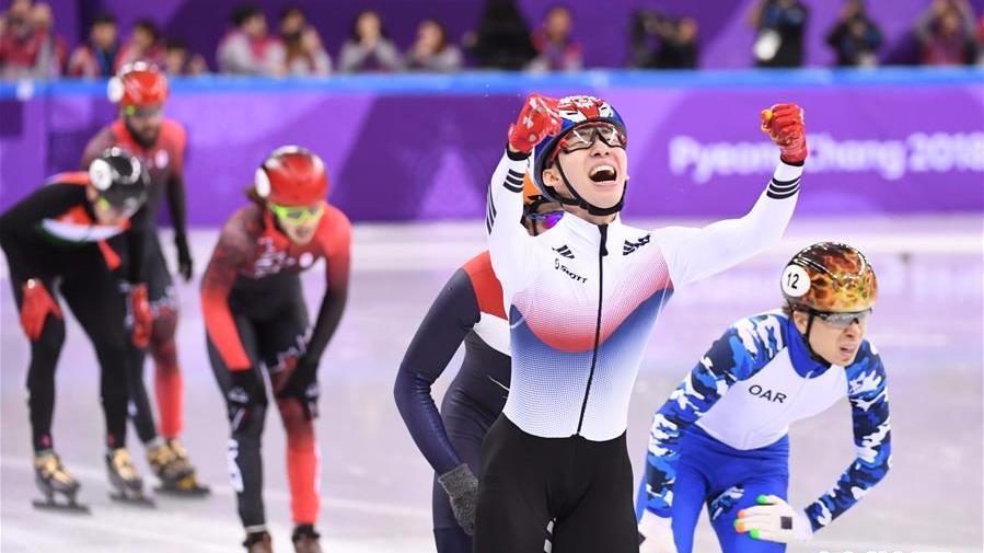 短道速滑产生首金 韩国林孝俊破奥运记录夺冠