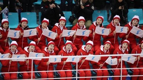 韩媒:朝鲜拉拉队将为韩朝女子冰联队第二战加油