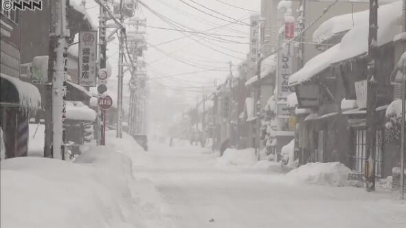 日本雪情严重 局部积雪超过4米