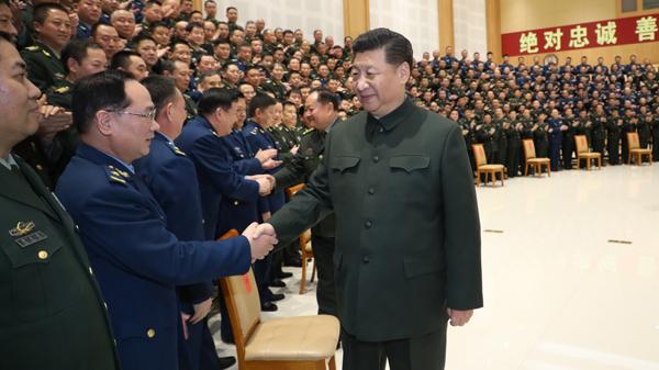 习近平春节前夕视察看望驻四川部队某基地官兵