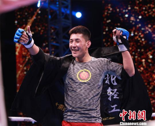 贺少帅赢得66公斤级冠军主办方供图摄