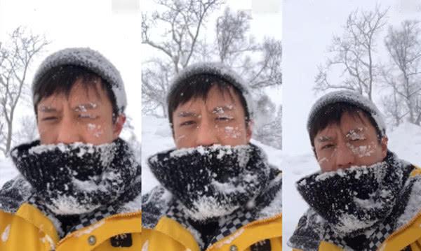 """邓超搞怪新花招 头埋雪中演绎真""""冻龄"""""""