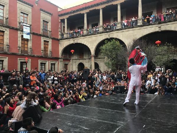 """图为""""2018年广州文化周﹒欢乐春节墨西哥行""""活动现场。(通讯员供图)"""