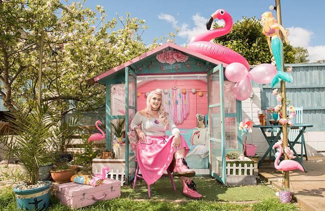 英年度花园小屋创意大赛开幕 作品吸睛
