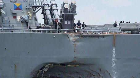 新加坡交通部:去年美舰撞船事故是突然转弯所致