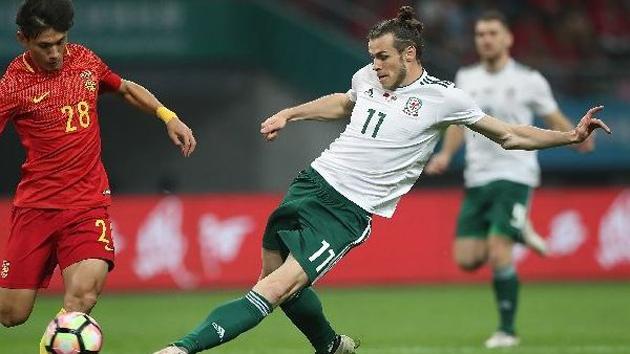 贝尔戴帽 中国杯首战中国队0:6不敌威尔士队