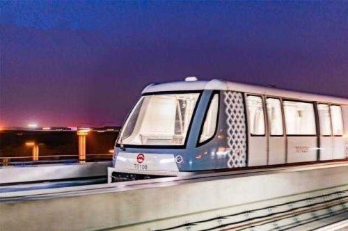 """上海首条""""社区轨交"""" 配无人驾驶胶轮路轨列车"""