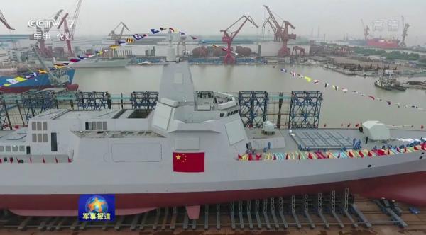 简氏:中国第六艘055大型驱逐舰开工建造