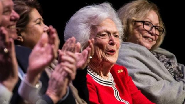 4位美国前总统参加前第一夫人芭芭拉·布什葬礼
