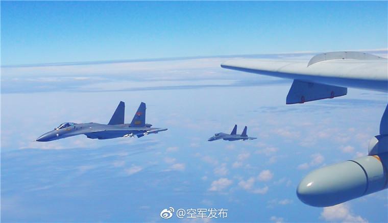 """空军多型战机""""绕岛巡航""""检验实战能力"""