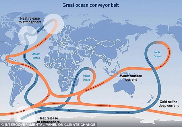 大西洋环流或将成为近一千六百年来最弱环流