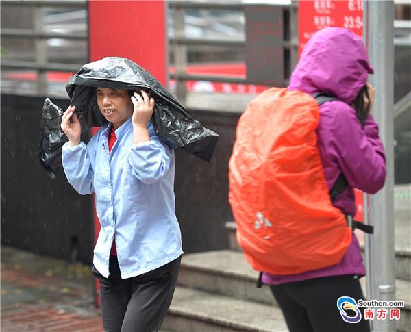 体感寒冷,广州阴雨持续不打烊