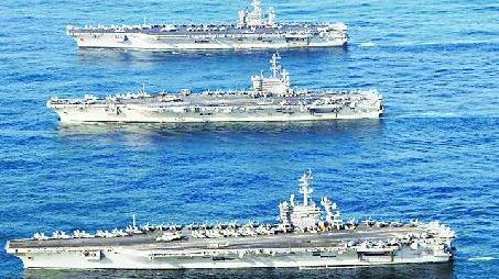 美防長擬調整航母部署 遭嚴重質疑