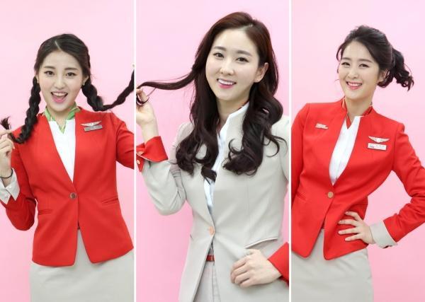 韓國一航空公司允許空姐燙染發 制服可選主題