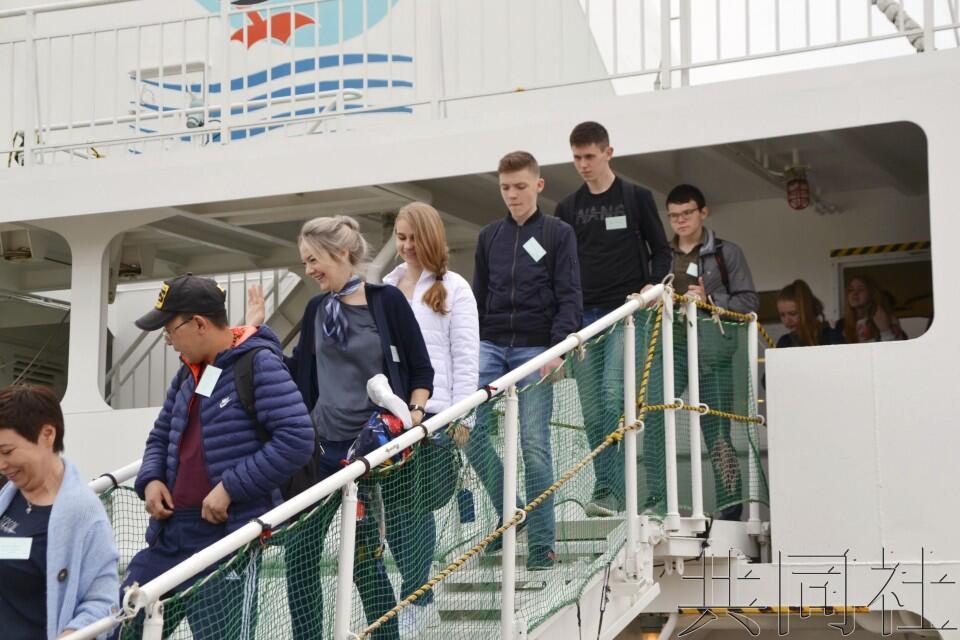 """俄方本年度首批""""无签证交流""""访问团抵达北海道"""