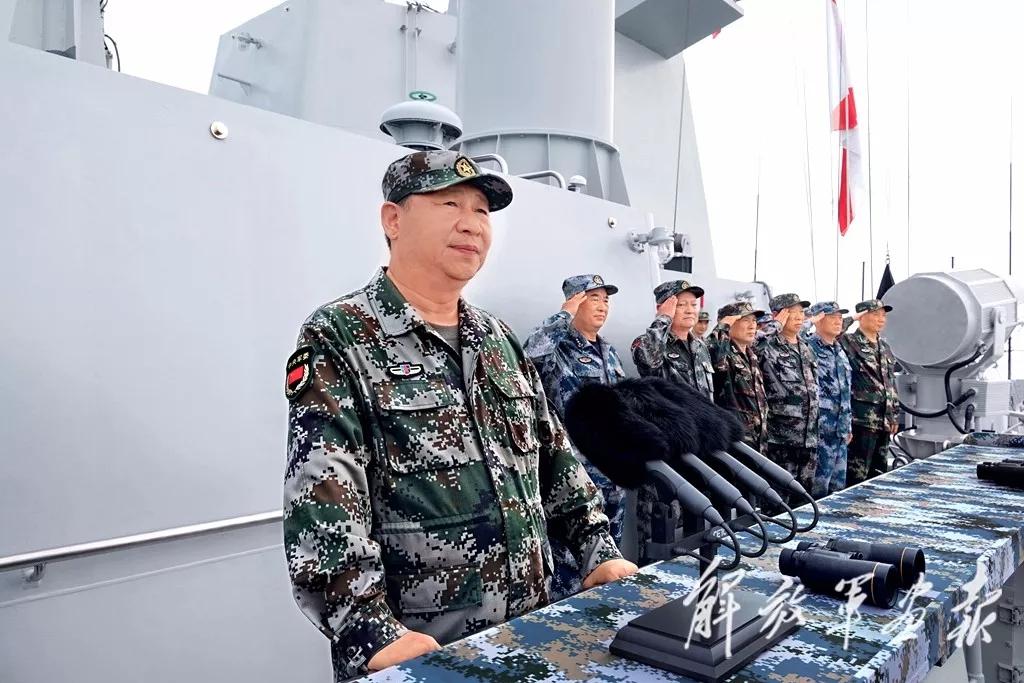 重磅|习主席出席南海海域海上阅兵多幅独家照片曝光