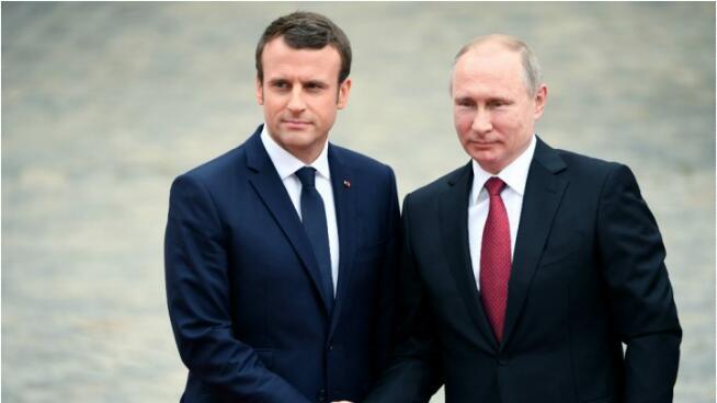 法国总统马克龙今访俄 将与普京磋商叙乌及伊核问题